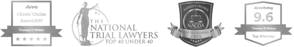 Weber Law criminal defense attorney awards